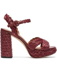 Kate Spade Women's Disco Raffia Platform Sandals - Natural - Size 10