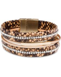 Saachi Two-tone, Faux Leather & Crystal Slytherin Bracelet - Multicolour