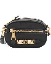 Moschino Women's Logo Nylon Belt Bag - Black