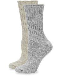 Hue 2-pack Tweed Rib Boot Socks - Multicolour