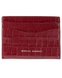 Rebecca Minkoff Croc-embossed Card Case - Red