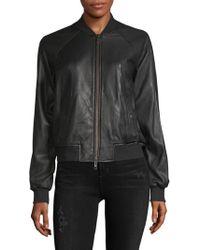 Vince - Leather Bomber Jacket - Lyst
