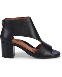 Gentle Souls Charlene Leather Peep-toe Booties - Black