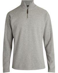 Vince Quarter-zip Knit Pullover - Grey