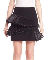 Opening Ceremony - Ruffle Stone Mini Skirt - Lyst