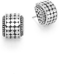 John Hardy - Dot Sterling Silver Hi-way Earrings - Lyst