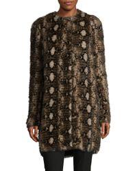 Roberto Cavalli Crewneck Mink Fur Coat - Black