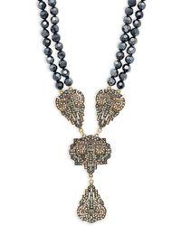 Heidi Daus - Dramatic Beaded Pendant Necklace - Lyst
