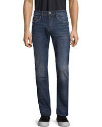 Buffalo David Bitton Slim-fit Logo Jeans - Blue