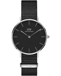 Daniel Wellington Petite Cornwall Stainless Steel & Textile-strap Watch - Black