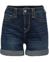 True Religion Jennie Mid-rise Denim Shorts - Blue