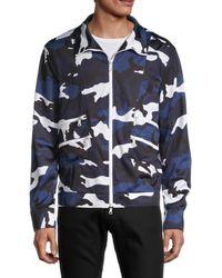 Valentino Men's Camo Bomber Jacket - Blue Camo - Size 46 (36)