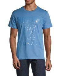 Moschino ! Logo-print Cotton T-shirt - Blue