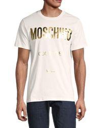 Moschino ! Logo Cotton T-shirt - White