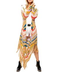 Free People Beach Party Card Striped Duster Sweater - Multicolor