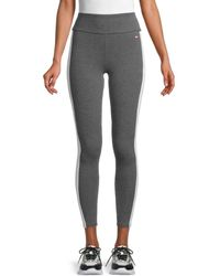 Tommy Hilfiger - Women's High-waist Stretch-cotton Leggings - Storm Heather - Size Xl - Lyst