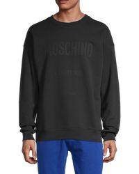 Moschino ! Logo Regular-fit Sweatshirt - Blue