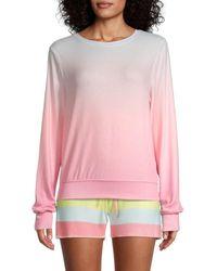 Wildfox Guava Ombre Sweatshirt - Pink