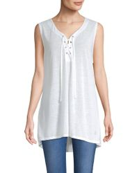 Balance Collection - Effie Lace-up Tank Top - Lyst