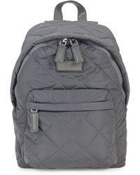 Marc Jacobs Quilted Nylon Backpack - Grey