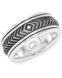 Effy - Sterling Silver Engraved Band Ring - Lyst