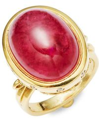 Temple St. Clair - High 18k Yellow Gold Arcadia Solitaire Ring - Lyst