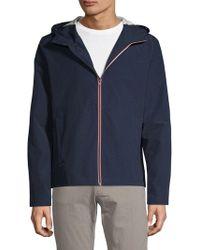 Pure Navy Full-zip Hooded Jacket
