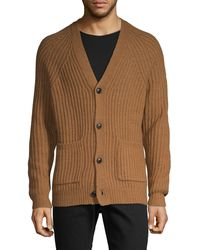 French Connection Button-front Wool-blend Cardigan - Multicolour