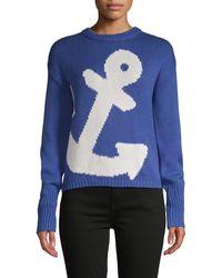 525 America Anchor Graphic Cotton Sweater - Blue