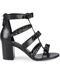 Nine West Giovanna Studded Sandals - Black