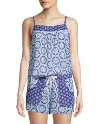 Jane And Bleecker - Two-piece Printed Pyjama Set - Lyst