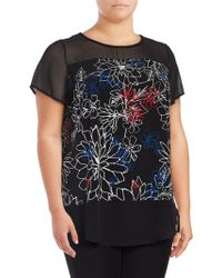 Vince Camuto - Floral Illusion Top - Lyst