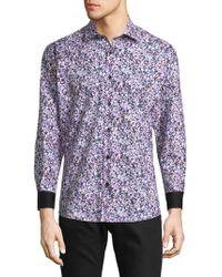 Jared Lang - Splatter Cotton Button-down Shirt - Lyst