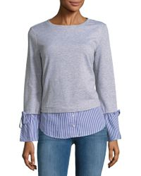 Beach Lunch Lounge - Two-fer Bell Sleeve Sweater - Lyst