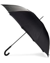 Barneys New York Women's Windpro Curved Auto Open Stick Umbrella - Blue