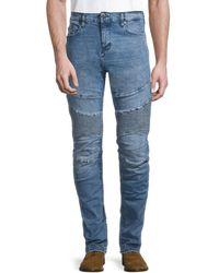 True Religion Men's Stripe Mid-rise Skinny-fit Jeans - Denim Blue - Size 31