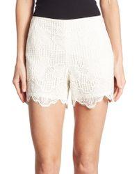 Trina Turk - Compay Scalloped Lace Shorts - Lyst
