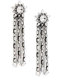 DANNIJO Phoebe Swarovski Crystal Chandelier Earrings - Multicolour