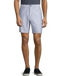 Original Penguin Men's Dobby Oxford Cotton Shorts - Vintage Indigo - Size 34 - Blue