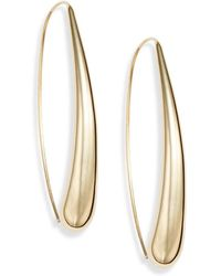 Saks Fifth Avenue - 14k Yellow Gold Arc Earrings - Lyst