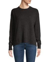 Vince Women's Wool & Cashmere Sweater - Heather Periwinkle - Size Xs - Black