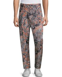 3.1 Phillip Lim Cropped Pleated Printed Trousers - Multicolour