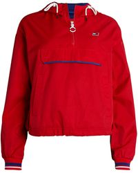 Tommy Hilfiger Sport Twill Pullover Jacket - Red
