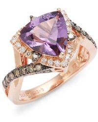 Le Vian - Grape Amethysttm Chocolate Diamonds® And Vanilla Diamonds® 14k Strawberry Gold® Ring - Lyst