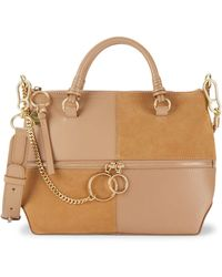 See By Chloé Emy Motty Leather Top Handle Bag - Multicolor