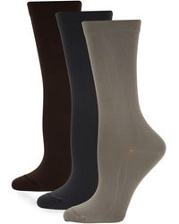 Hue 3-pack Stretch Crew Socks - Multicolour