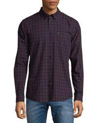 Ben Sherman - Plaid Cotton Button-down Shirt - Lyst