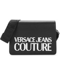 Versace Jeans Couture Women's Faux Leather Logo Crossbody Bag - Black