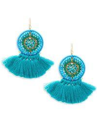 Panacea - Beaded Fringe Drop Earrings - Lyst