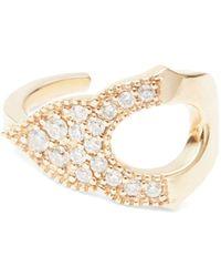 Sara Weinstock Taj 18k Yellow Gold & Diamond Single Cuff Earring - Metallic